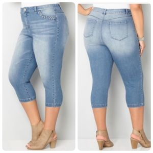 Denim - NEW Plus Size Stretch Jean Capri